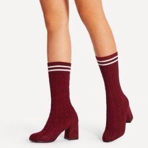 Knit boot socks